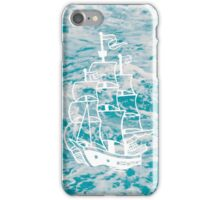 Jolly Roger Ship  Sea Illustration iPhone Case/Skin