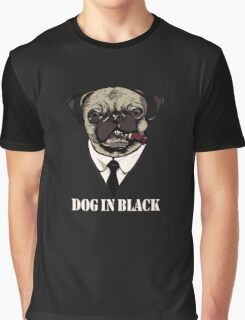 Dog In Black Graphic T-Shirt
