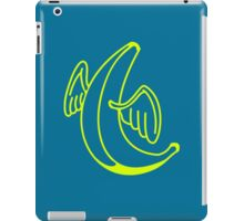 Flying banana with angel wings iPad Case/Skin