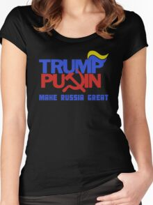 Trump Putin 2016 - Make Russia Great Again Women's Fitted Scoop T-Shirt