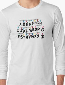 Stranger Things - Alphabet Wall Long Sleeve T-Shirt