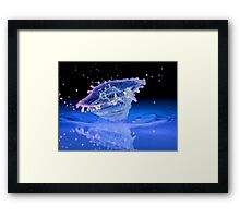 Space Satellite Framed Print