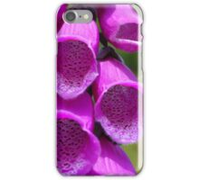 Pink and spotty foxglove flowers iPhone Case/Skin