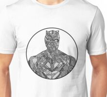Black Panther Line Drawing Unisex T-Shirt