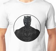 Black Panther Colour Line Drawing Unisex T-Shirt