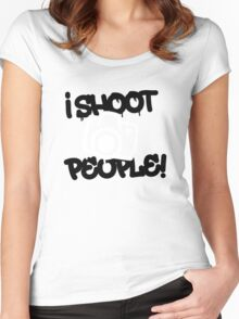 I shoot people -Funny Photography Women's Fitted Scoop T-Shirt