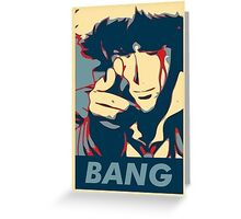 Bang - Spike Spiegel Greeting Card