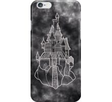Beauty and the beast castle black illustration iPhone Case/Skin
