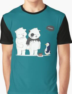 Penguin Become To Panda Graphic T-Shirt
