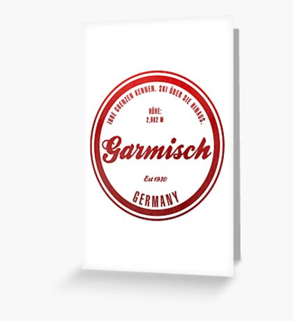 Germisch Germany Ski Resort Greeting Card