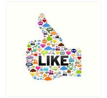 Like Social Media Art Print