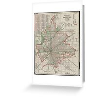 Vintage Map of Indianapolis Indiana (1921) Greeting Card