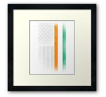 Irish American Flag - Half Irish Half American Framed Print