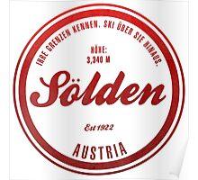 Sölden Austria Ski Resort Poster