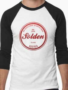 Sölden Austria Ski Resort Men's Baseball ¾ T-Shirt
