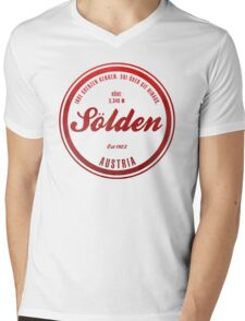 Sölden Austria Ski Resort Mens V-Neck T-Shirt