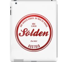 Sölden Austria Ski Resort iPad Case/Skin