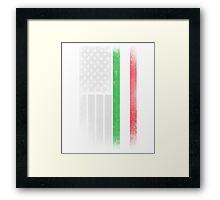 Italian American Flag - Half Italian Half American Framed Print