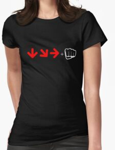 Street Fighter Combo T-shirt Womens Fitted T-Shirt