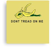 Vintage Banana Gadsen Flag Spoof Canvas Print