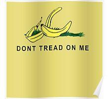 Vintage Banana Gadsen Flag Spoof Poster