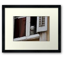 When are you coming home ?  - JUSTART  © Framed Print