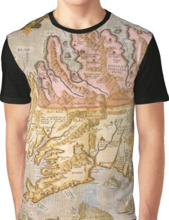 Vintage Map of Iceland (1590) Graphic T-Shirt