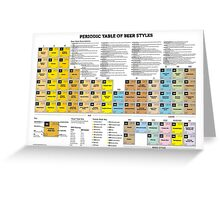 Periodic Table of Beer Styles Greeting Card