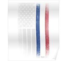 Dutch American Flag - Half Dutch Half American Poster