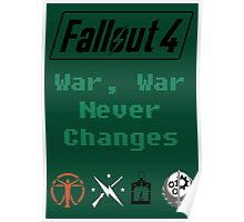 Fallout 4 - War Never Changes Poster