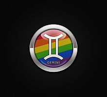 Gemini - LGBT Pride Rainbow  by LiveLoudGraphic