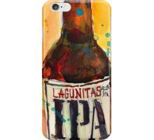 IPA Lagunitas Beer Art Print from Original Watercolor iPhone Case/Skin