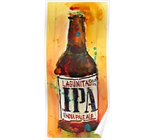 IPA Lagunitas Beer Art Print from Original Watercolor Poster