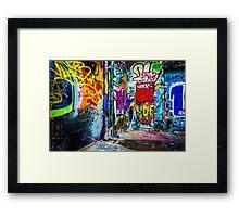 Street Art Framed Print