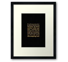 "It's still scary every time... ""Maya Angelou"" Inspirational Quote Framed Print"
