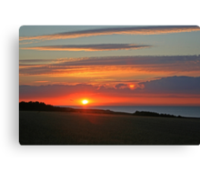 Norfolk Sunset Canvas Print