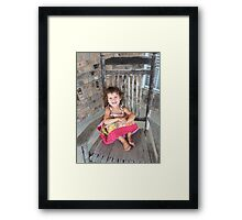 Addison on the Porch Rocker Framed Print