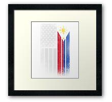 Filipino American Flag - Half Filipino Half American Framed Print