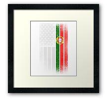 Portugese American Flag - Half Portugese Half Framed Print