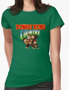 Donkey Kong Country Womens Fitted T-Shirt