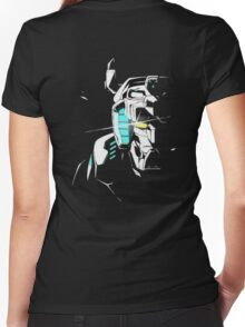 Voltron Shadowed Face Women's Fitted V-Neck T-Shirt
