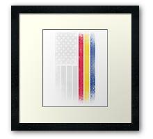 Romanian American Flag - Half Romanian Half American  Framed Print