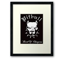 Pitbull Breed of Champions Framed Print