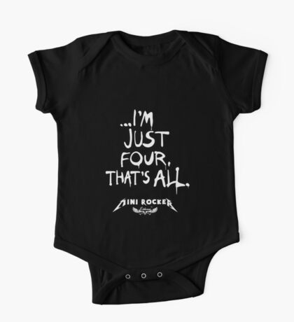 ...I'm just four, that's all. Mini Rocker One Piece - Short Sleeve