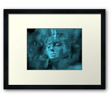 Flowers in my Head - JUSTART ©  Framed Print