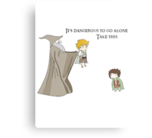 It's Dangerous to Go Alone. Take this. Metal Print