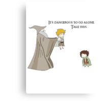 It's Dangerous to Go Alone. Take this. Canvas Print