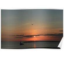 Lake Michigan Sunrise Poster