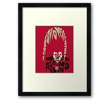 maka Framed Print
