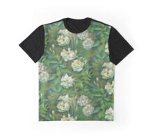 """White roses, green leaves"", pastel painting, floral art Graphic T-Shirt"